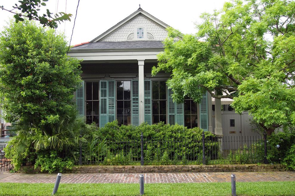 Shotgun Houses for a Transitional Exterior with a My Houzz and My Houzz   Wayne Amedee by Kayla Stark
