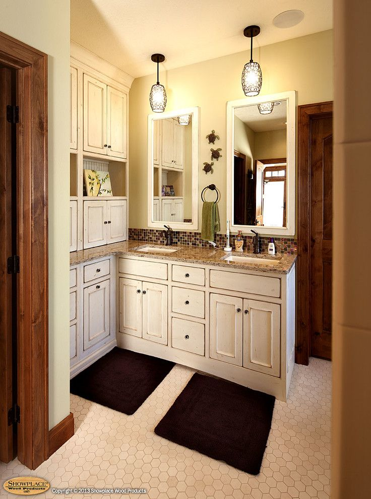 Showplace Wood Products for a Traditional Bathroom with a Painted Cabinets and Showplace Cabinets   Bathroom by Showplace Wood Products