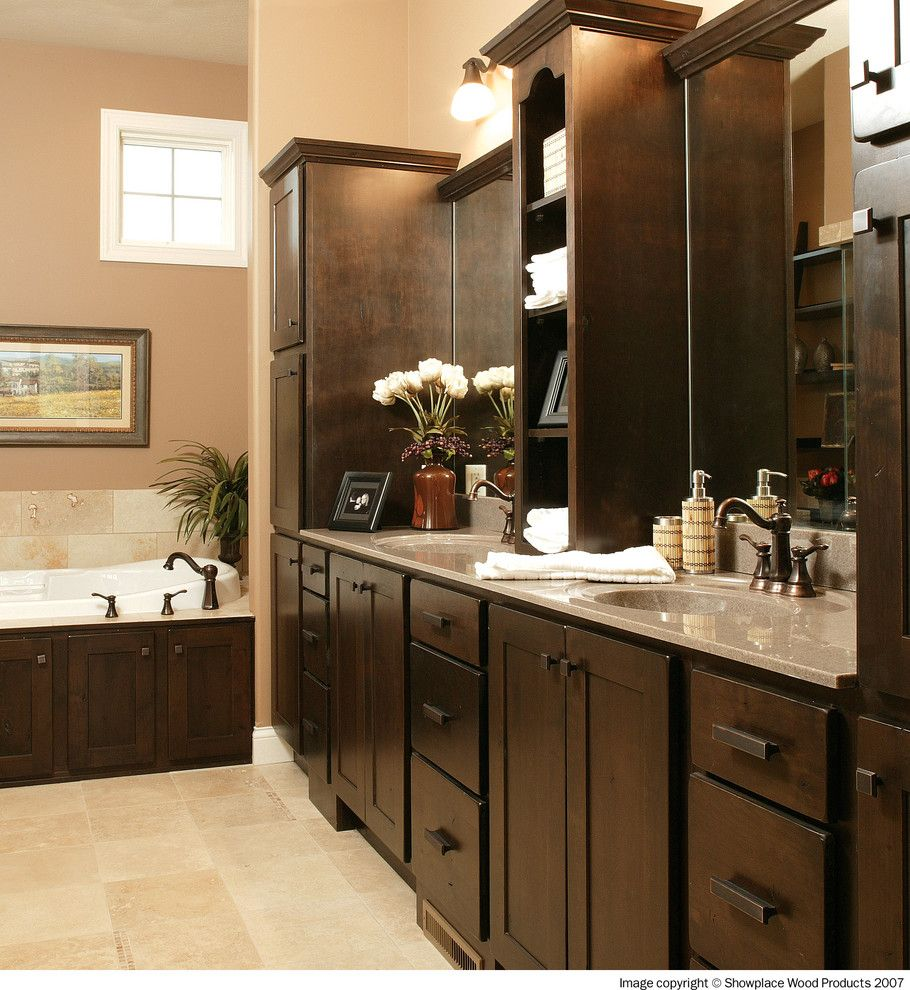 Showplace Wood Products for a Traditional Bathroom with a Showplace Cabinets and Showplace Cabinets   Bathroom by Showplace Wood Products