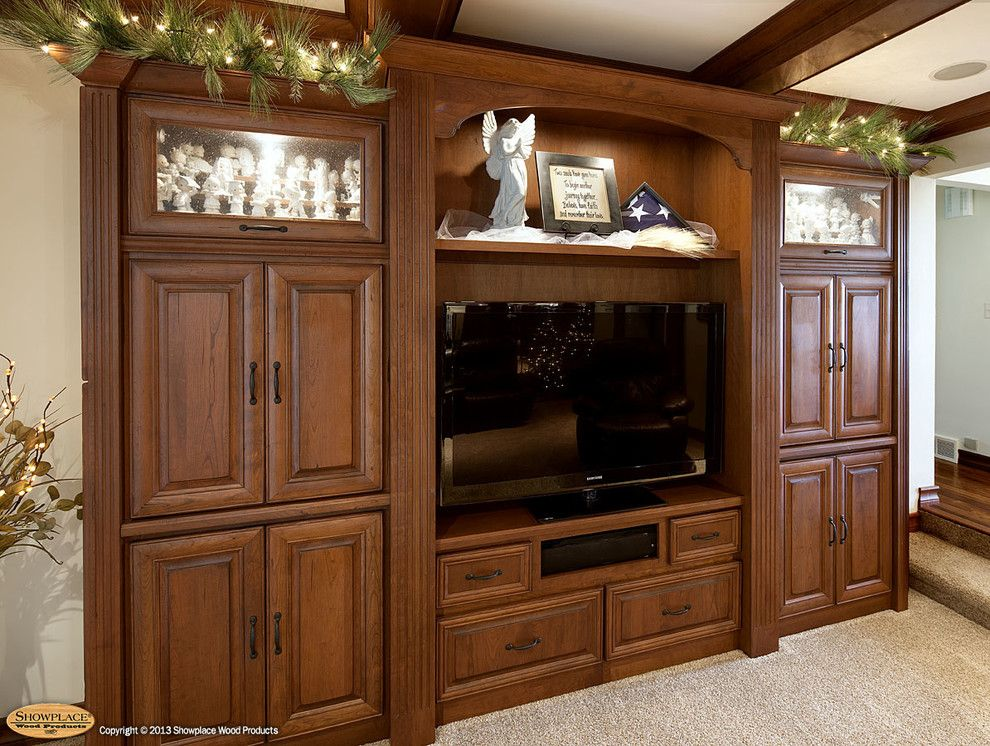 Showplace Wood Products for a Traditional Family Room with a Showplace Cabinets and Showplace Cabinets   Family Room by Showplace Wood Products