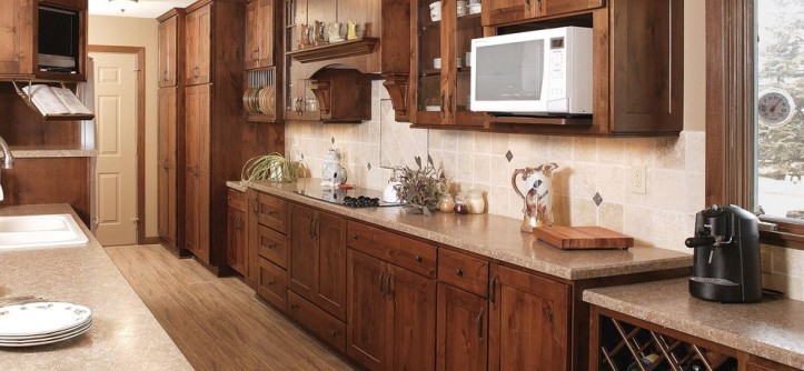 Showplace Wood Products for a Traditional Kitchen with a Cooktop and Showplace Cabinets - Kitchen by Showplace Wood Products