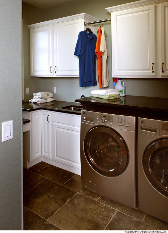 Showplace Wood Products for a Traditional Laundry Room with a Laundry and Showplace Cabinets   Laundry by Showplace Wood Products