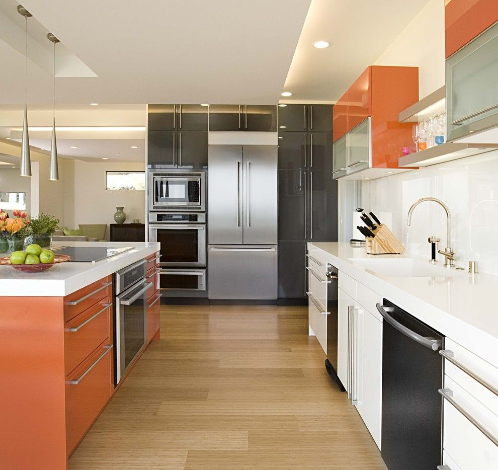 Siematic for a Contemporary Kitchen with a Black and Kitchen by Mark English Architects, Aia