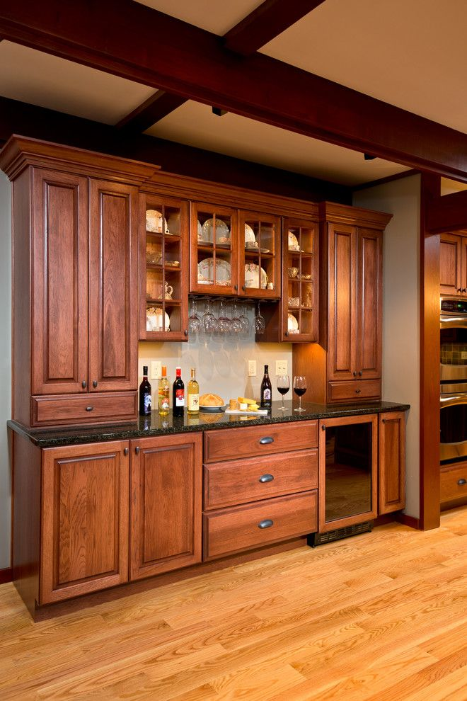 Sigma Faucets for a Craftsman Kitchen with a Bar Area and Kitchen Remodel Schenectady, New York by Bellamy Construction