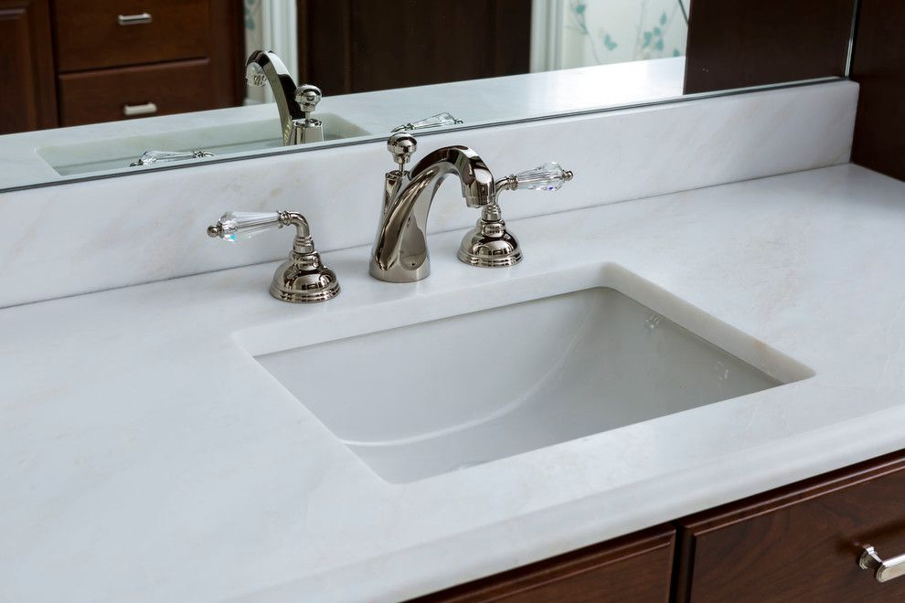 Sigma Faucets for a Traditional Bathroom with a Cadenza Granite and Elegant Family Home by Cadenza Granite and Marble