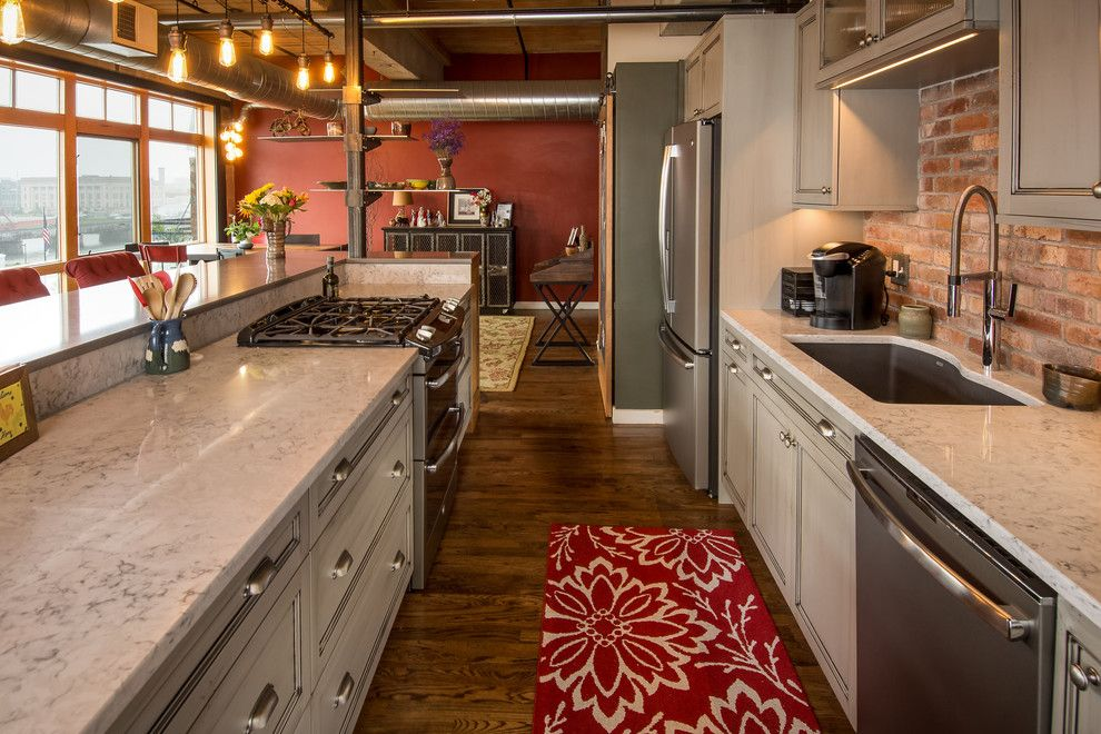 Silestone for a Industrial Kitchen with a Makeover and Warehouse Loft Gets a Customized Makeover, Stays Urban by Silent Rivers Design+Build