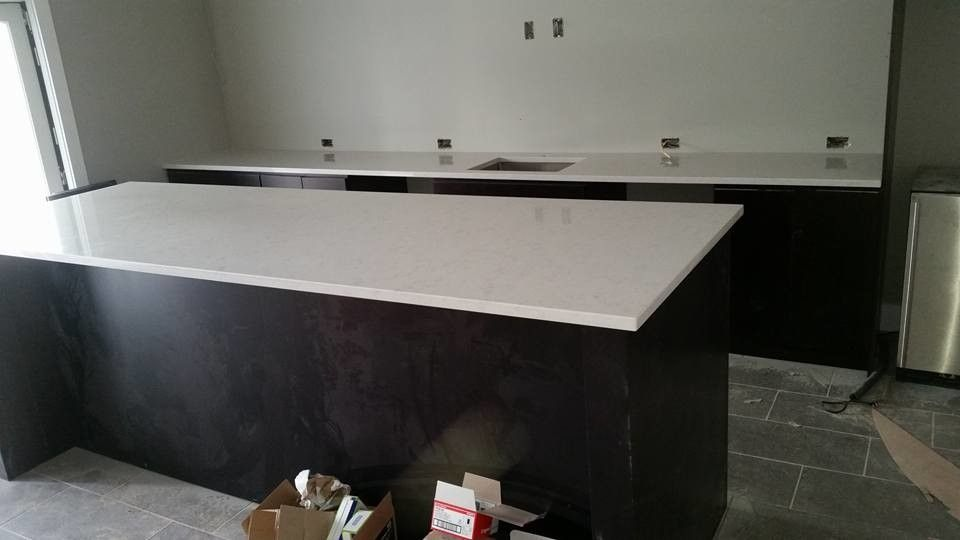 Silestone Lagoon for a Contemporary Kitchen with a Kansas and Silestone Lagoon Quartz by Creative Surfaces