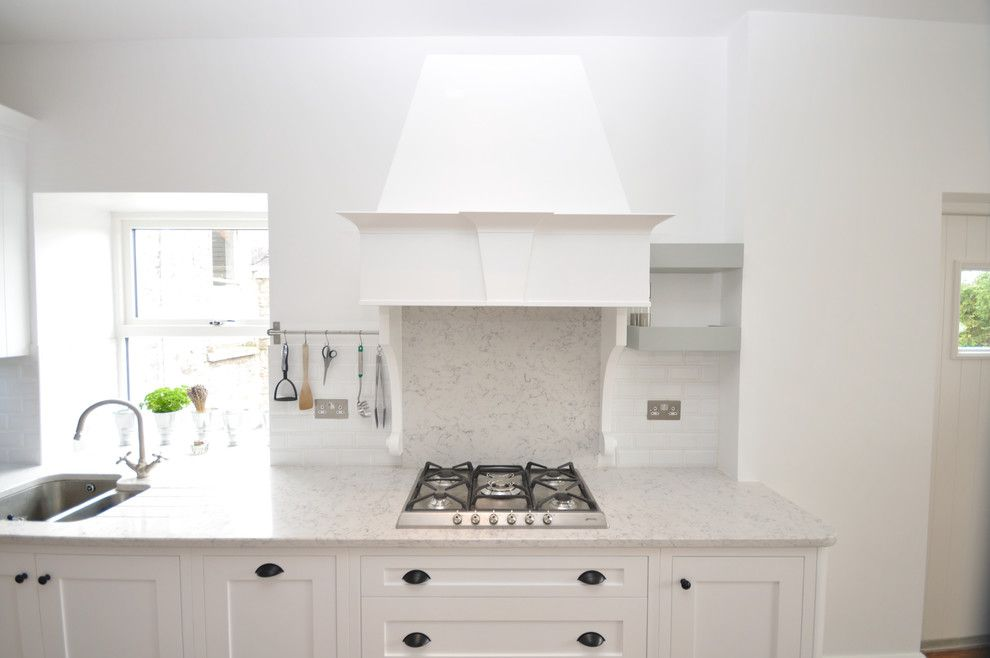 Silestone Lagoon for a  Kitchen with a  and Woodale Designs by Woodale Designs Ireland