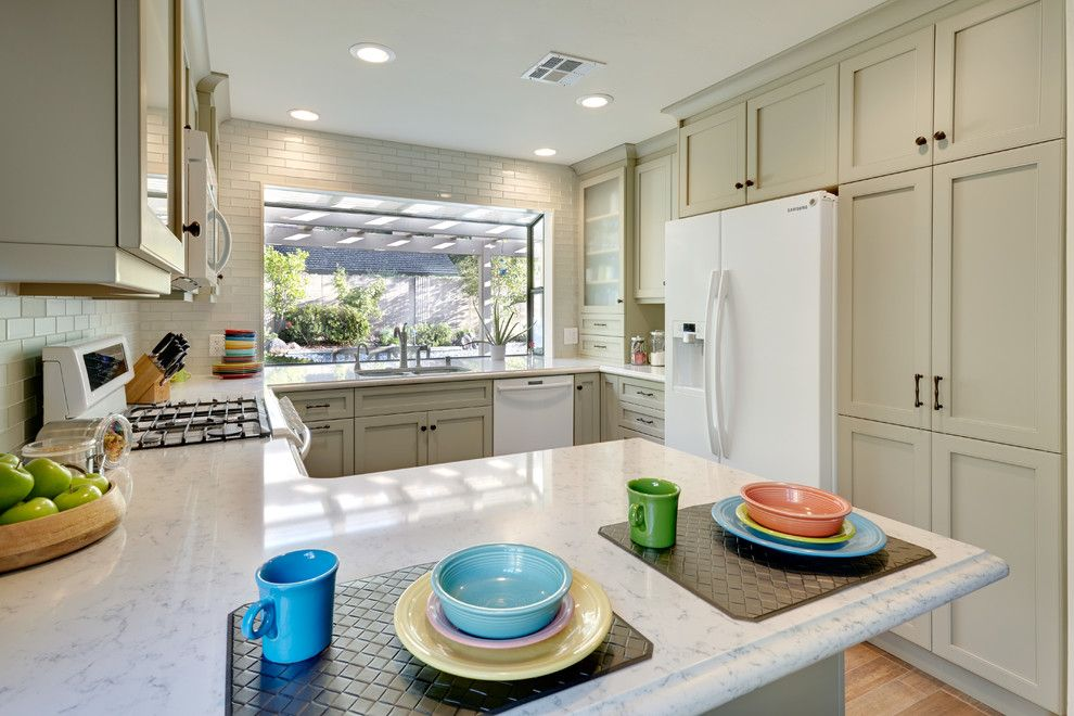 Silestone Lagoon for a Traditional Kitchen with a Silestone and Gold River Fun Classic. Nar Fine Carpentry. Sacramento. El Dorado Hills by Nar Fine Carpentry, Inc./design.build.cabinetry