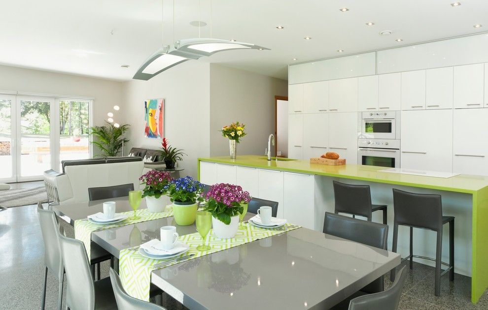 Silestone Quartz for a Contemporary Kitchen with a Passive Solar and Wain Rd   Pre Cast Insulated Concrete Panel Passive Solar Home by Nz Builders Ltd