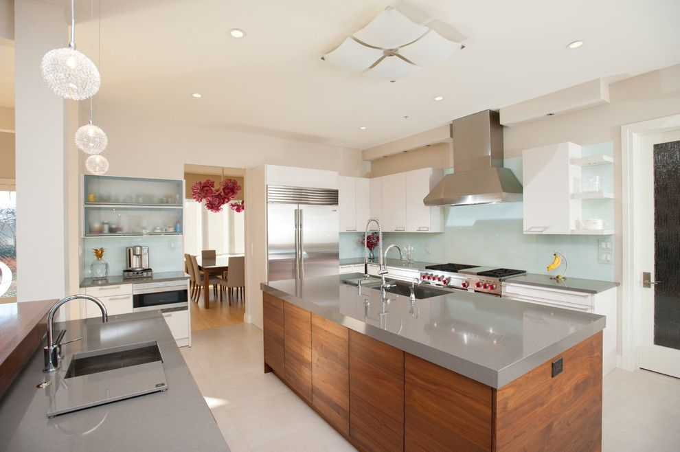 Silestone Quartz for a Contemporary Kitchen with a Subzero and Gourmet Kitchen by Eddy Homes