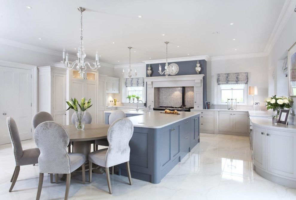 Silestone Quartz for a Traditional Kitchen with a Satin Nickel and Luxury Home Furniture by the Design Yard