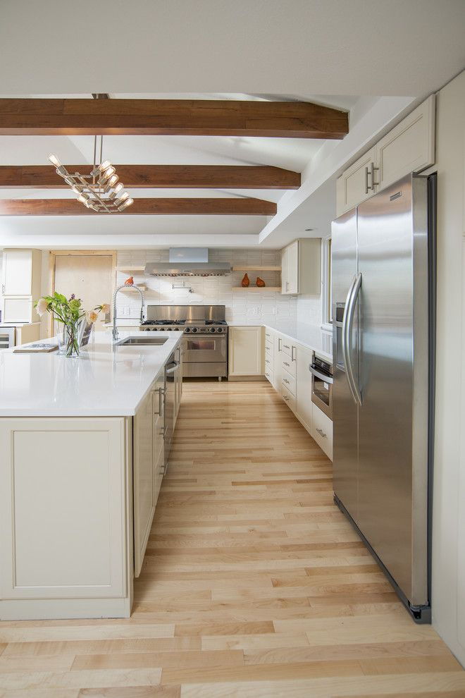 Silestone Quartz for a Transitional Kitchen with a White Countertop and Sequoyah Residence by Ispace, Llc
