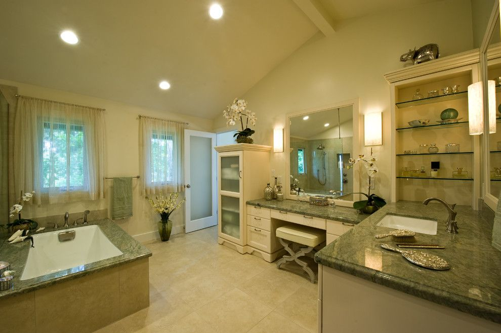 Silestone vs Granite for a Traditional Bathroom with a Kitchen Lighting and Kitchen & Bathroom Remodel Hawaii by Ferguson Bath, Kitchen & Lighting Gallery