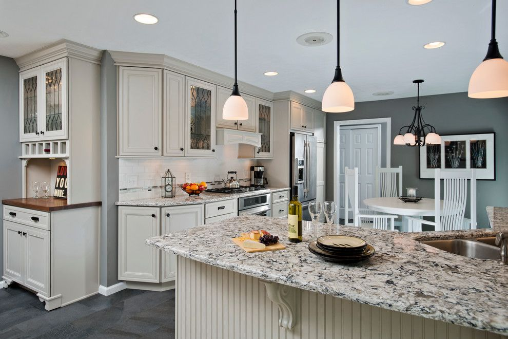 Silver Sage Paint for a Transitional Kitchen with a Gray Paint and Traditional Kitchen Designs by Kitchen and Bath World, Inc