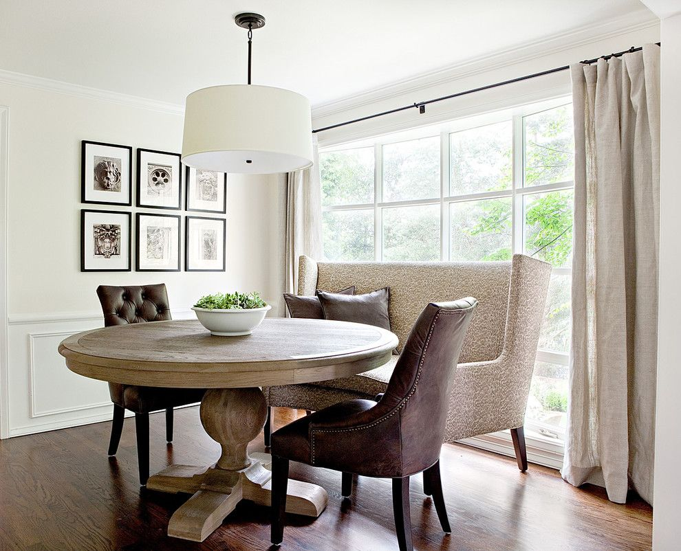 Simons Hardware for a Traditional Dining Room with a Oversized Window and Lakemont by Marianne Simon Design