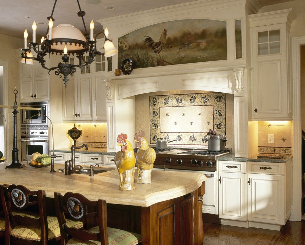 Simons Hardware for a Victorian Kitchen with a Kitchen Island and Grand Westchester County Estate by Robin Baron Design