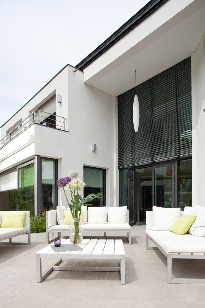 Simple Solar Homesteading for a Modern Patio with a Modern and Somfy by Somfy