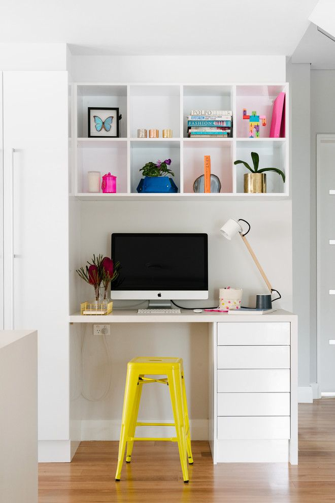 Simplex Homes for a Contemporary Home Office with a Task Lamp and Australian Modern by Kim Pearson Pty Ltd