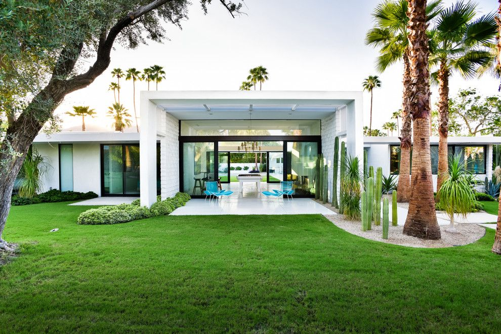 Simplex Homes for a Midcentury Exterior with a Covered Outdoor Spaces and the Lost Krisel by Studio Ar+D Architects