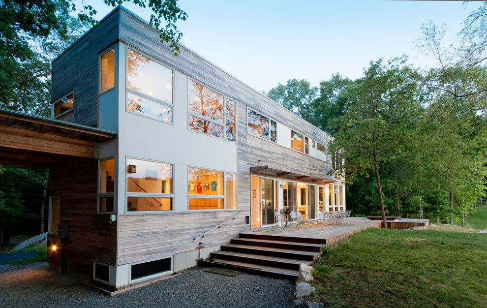 Simplex Homes for a Modern Exterior with a Walkway and Lake Iosco House Exterior by Resolution: 4 Architecture