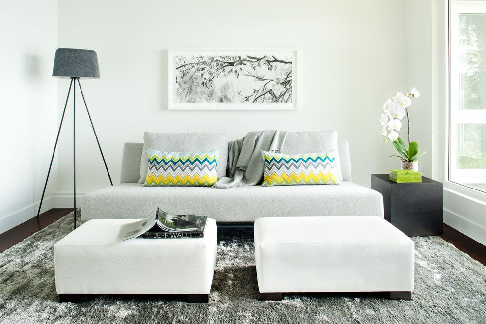 Simplicity Sofas for a Contemporary Family Room with a West Coast Modern and Lion's Bay by Kelly Deck Design