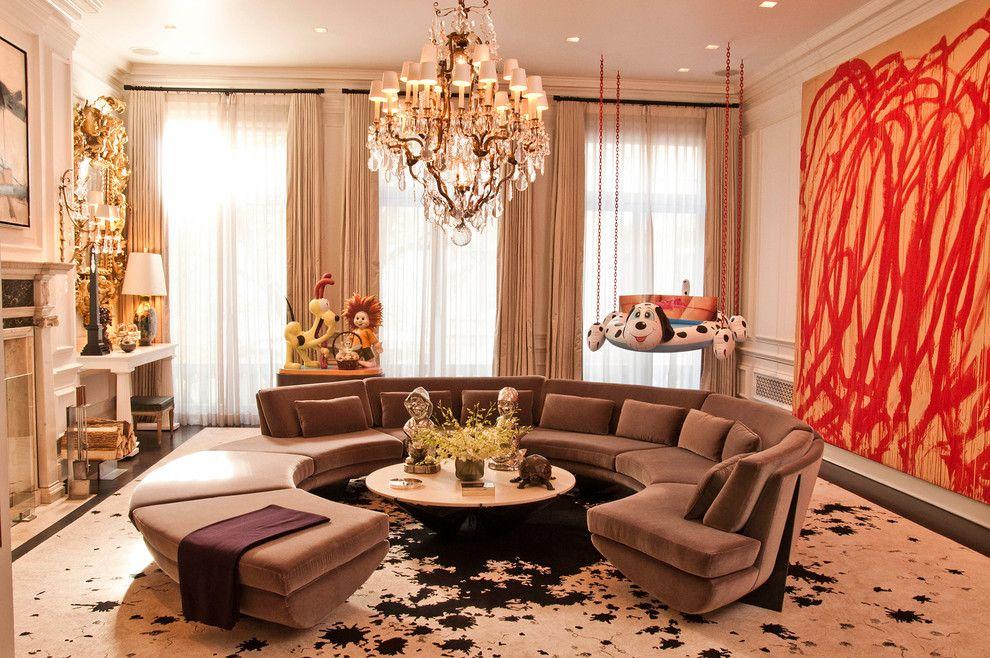 Simplicity Sofas for a Contemporary Living Room with a Tan Curtains and Contemporary Living Room by Dc Interior Decor
