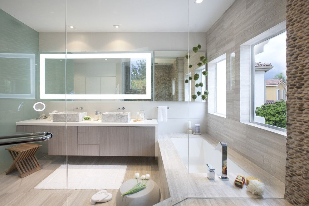 Singing River Electric for a Modern Bathroom with a Design Ideas and a Modern Miami Home by Dkor Interiors Inc.  Interior Designers Miami, Fl