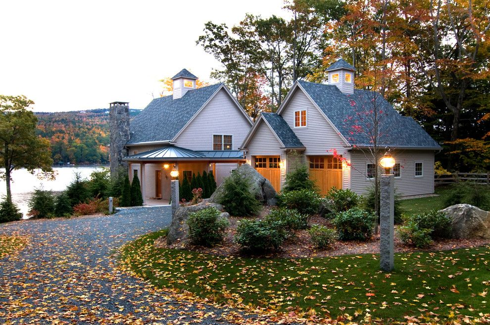 Sitterle Homes for a Traditional Exterior with a Shrubs and Lake Sunapee, Nh View by Bonin Architects &  Associates