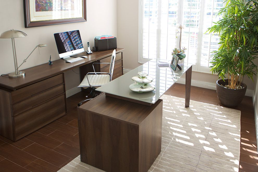 Sklar Furniture for a Contemporary Home Office with a Contemporary Kitchen and Kay   Client S by Sklar Furnishings