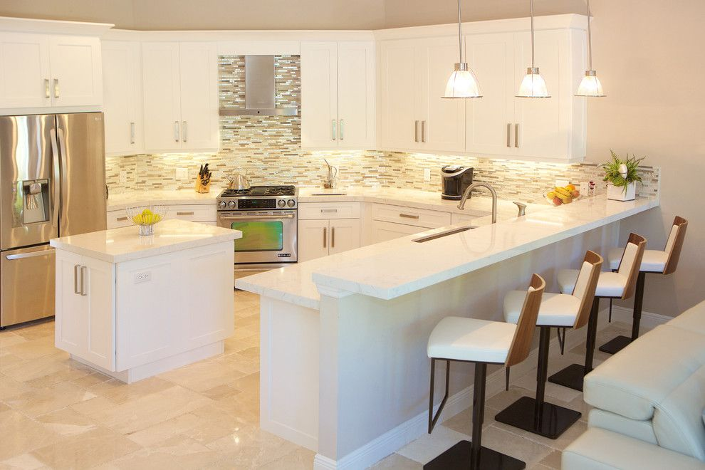 Sklar Furniture for a Contemporary Kitchen with a Master Bedroom and Kay   Client S by Sklar Furnishings