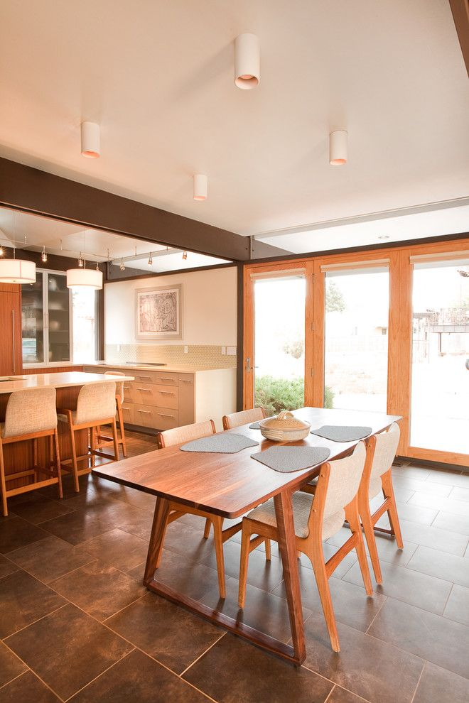 Slv Lighting for a Modern Kitchen with a Tile Floor and Busch House   Kitchen by Vega Architecture