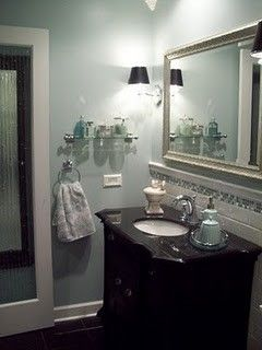 Small Bathroom Makeovers for a Traditional Bathroom with a Grohe and Small Bathroom Makeover - Spa Blue by Tennischik