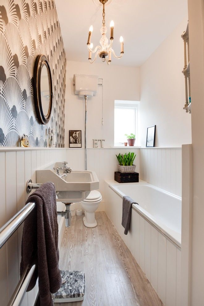 Small Bathroom Makeovers for a Victorian Bathroom with a Patio and Traditional Styling Small City Apartment by Etre