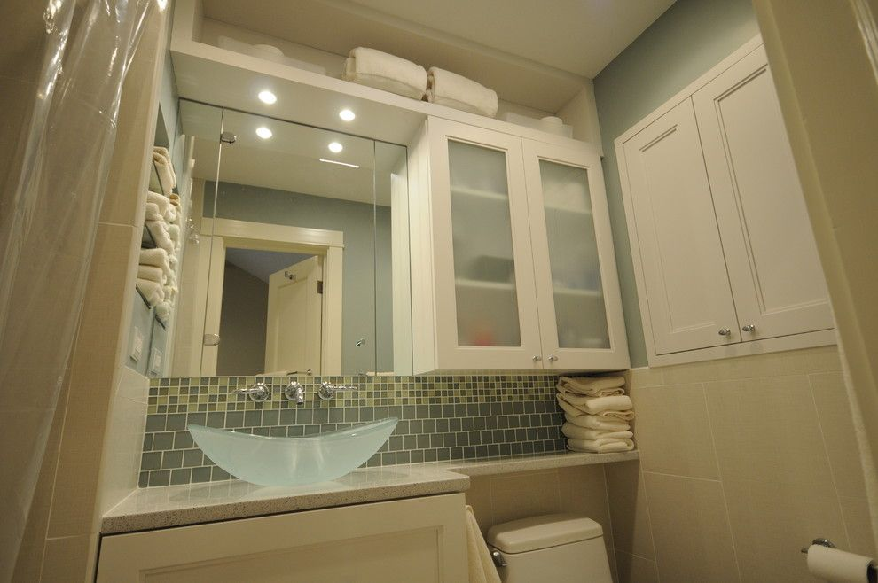 Small Master Bathroom Ideas for a Contemporary Bathroom with a Contemporary and Contemporary Master Bath by Cherry Hill Cabinetry