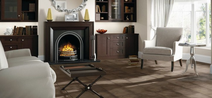 Smokey Mountain Tops for a Contemporary Living Room with a Dark Flooring and Living Room by Carpet One Floor & Home
