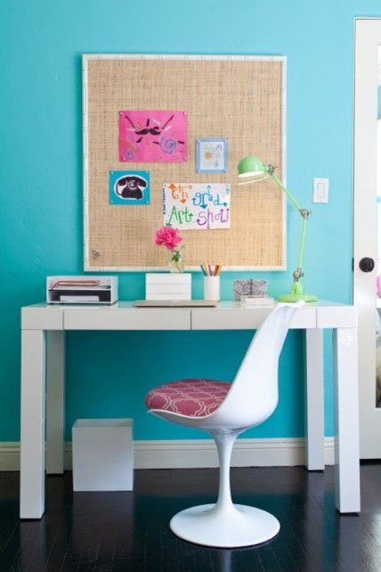 Snyder Diamond Santa Monica for a Modern Bedroom with a Task Chair and Teen Girl's Rooms by Jac Interiors