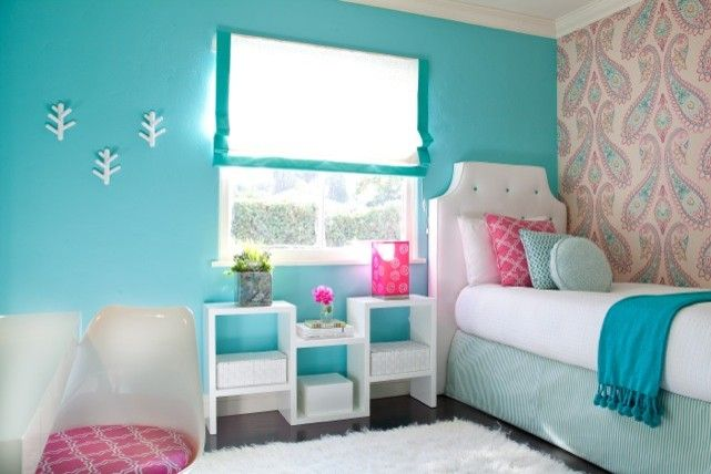 Snyder Diamond Santa Monica for a Modern Bedroom with a Tulip Chair and Paisley 1.jpg by Jac Interiors