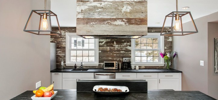 Soapstone for a Rustic Kitchen with a Windows and White Plains House by Andrew Mikhael Architect