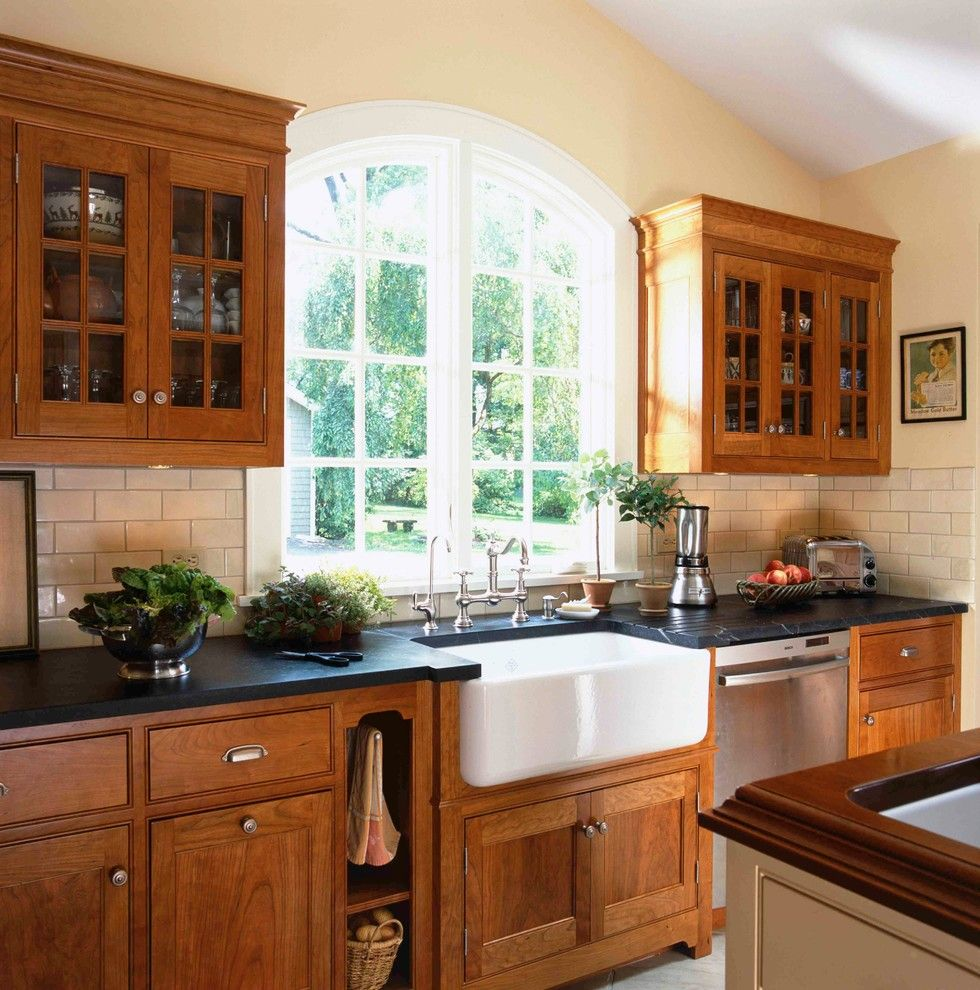 Soapstone for a Victorian Kitchen with a Farmhouse Kitchen and Ireland in Ct by Christine Donner Kitchen Design Inc.