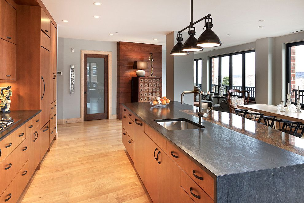 Soapstone vs Granite for a Contemporary Kitchen with a Baseboards and Upscale Urban Dwelling by Kitchen Choreography