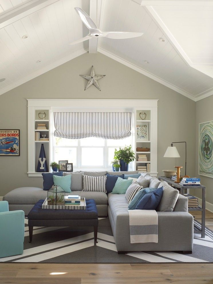 Sobe Furniture for a Beach Style Family Room with a Family Room and Coastal Living Magazine Showhouse 2014 by Flagg Coastal Homes