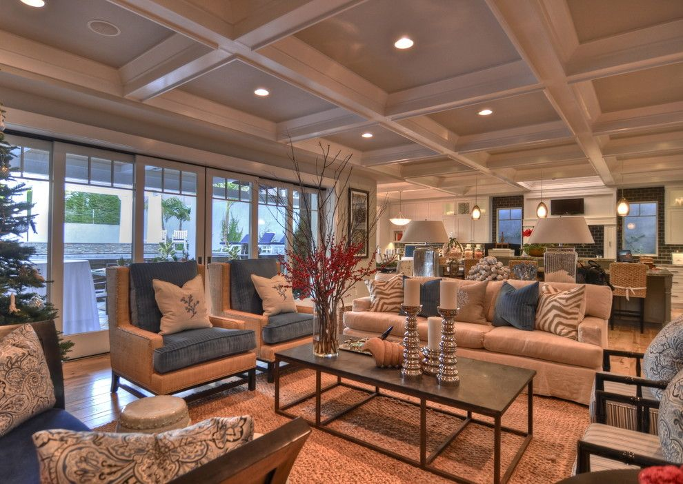 Sobe Furniture for a Traditional Living Room with a Waterfall and Luann Development by Luann Development, Inc.