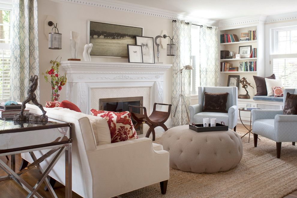 Sofa Mart Denver for a Contemporary Living Room with a Armchair and Denver Country Club Home by Andrea Schumacher Interiors