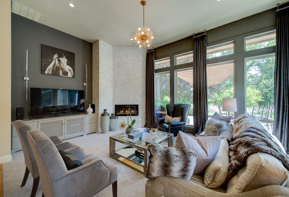 Sofa Mart Denver For A Contemporary Living Room With Drapery Hardware And High Contrast