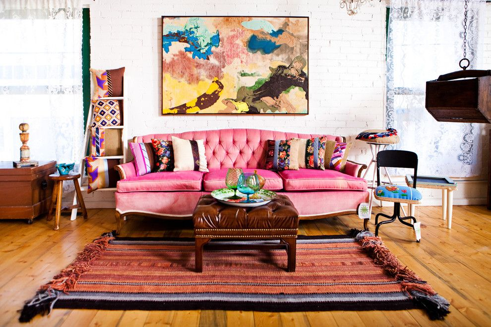 Sofa Mart Denver for a Shabby-Chic Style Living Room with a Nailhead Trim and Loft Shots by Vintage Renewal