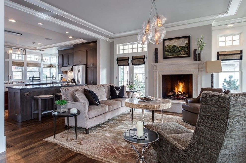 Sofa Mart Denver for a Transitional Living Room with a White Trim and Denver Home Remodel by Earthwood Custom Remodeling, Inc.