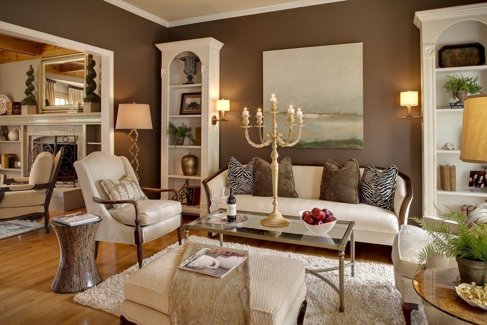 Sofa Mart for a Traditional Family Room with a Fireplace and Traditional Family Room by Houzz.com