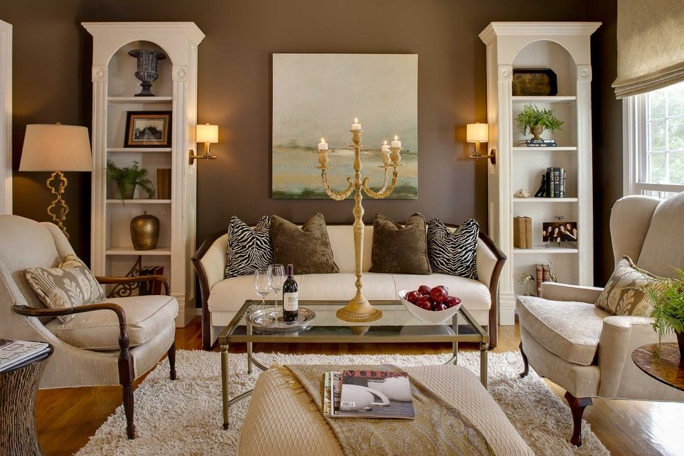 Sofa Mart for a Traditional Family Room with a White Small Bookshelves and Mccroskey Interiors by Mccroskey Interiors