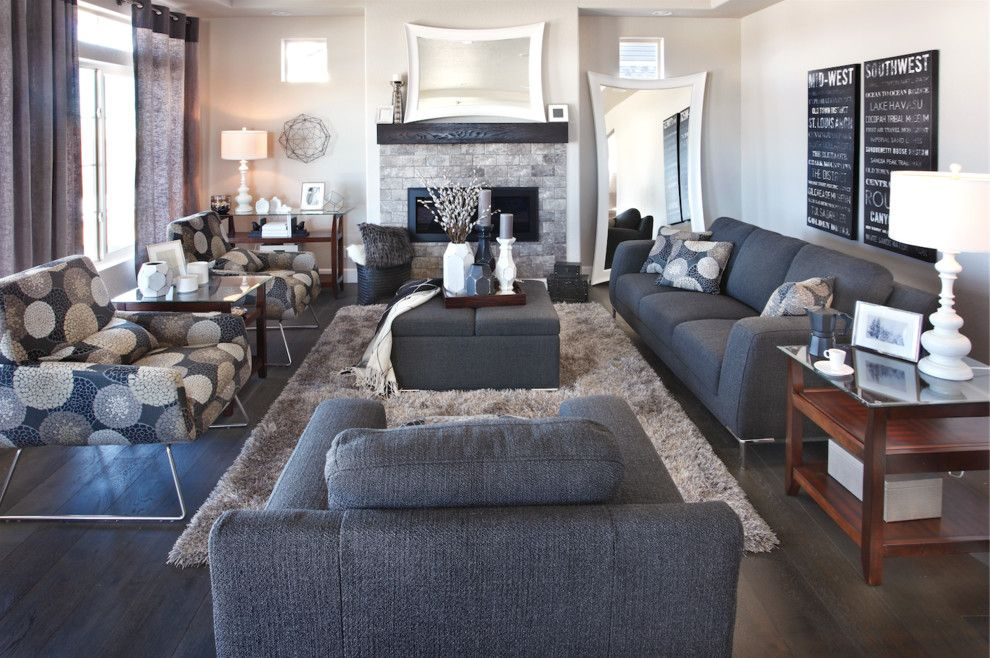 Transitional Living Room With A Sofas